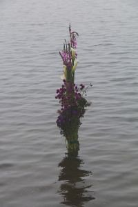Offering in Lake Chicabal
