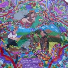 Maya Dia de los Muertos Kite